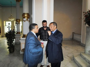 وزير التربية والتعليم يستقبل الحسينى محمد _ الخوجة  081