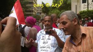 الحسينى محمد  #الخوجة مع#المعلمين فى  #وقفة المعلمين 10-9-2015 امام #نقابة الصحفيين