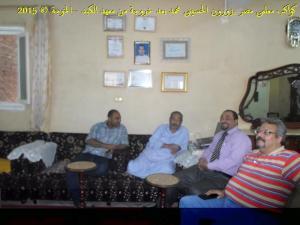 #معلمى_مصر ..يعاودون #الحسينى محمد ( الخوجة ) بالزيارة بعد خروجة من #معهد_الكبد_القومى (1)