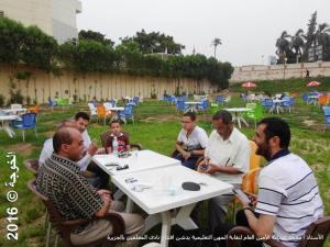 الأستاذ / محمد عبدالله الأمين العام لنقابة المهن التعليمية يدشن افتتاح نادى المعلمين بالجزيرة