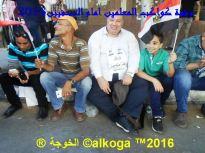 وقفة المعلمين امام الصحفيين 2016