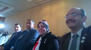 الحسينى محمد _الخوجة_فى مؤتمر العمل العربى المشترك
